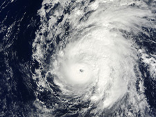 NASA's Terra satellite passed over Neki and the MODIS instrument captured an image that clearly shows an eye.