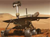 Artist's concept of the Mars Exploration Rover on Mars