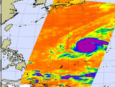 Mirinae now has the developed signature shape of a mature tropical cyclone.