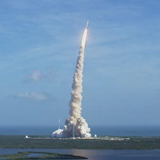 Liftoff of the Ares I-X flight test vehicle