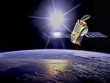 An artist's concept of a satellite in orbit
