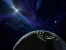 The pulsar planets PSR B1257+12 b, c, and d are all that remains of a dead solar system. They are constantly beamed with intense radiation.