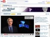 A screen capture from the Youtube nobelprize.org site