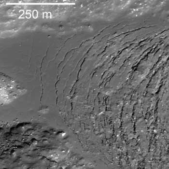 LROC image of Moore crater