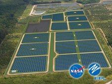 Artist Concept of the Solar Power Facility at Kennedy Space Center (Credit: FPL)