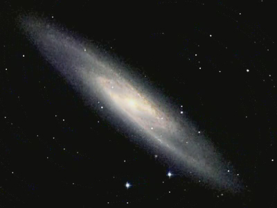 Galaxy NGC 253 as viewed from visible to infrared light.