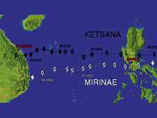 Typhoon Ketsana took a similar path to Mirinae when it caused disasters in the Philippines and Vietnam in late September 2009.