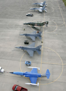 Fighter jets on SLF ramp.