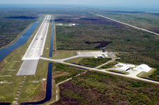 The Shuttle Landing Facility from the air.