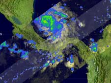 TRMM image of Tropical Depression 11