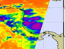 AIRS image of Tropical Depression 11