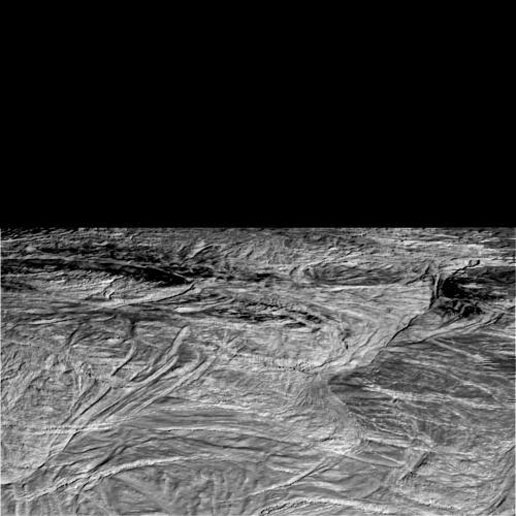 Raw image of Cassini's Nov. 2, 2009 flyby of Enceladus