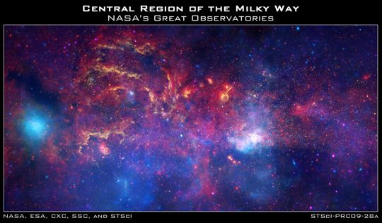 A composite view of the Milky Way Galactic core