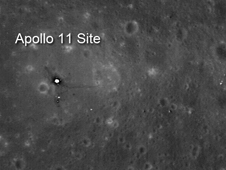 Apollo 11 landing site as seen by LRO