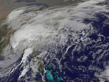 GOES-12 captured Tropical Storm Ida's landfall near Dauphin Island, Alabama this morning, November 10.