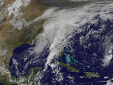 Movie shows Ida's progress from the Gulf of Mexico through her progression over the southeastern U.S.
