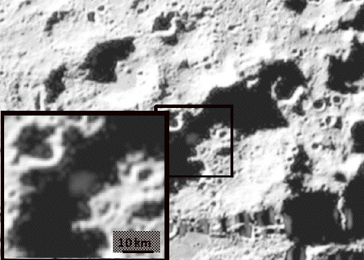 The visible camera image showing the ejecta plume at about 20 seconds after impact