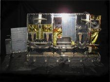 A portrait of the refurbished RAIDS scan head and IR detector box, left, before experiment integration.