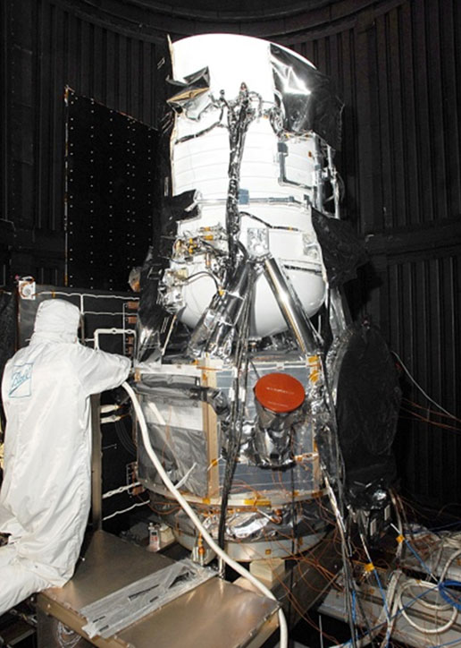 WISE spacecraft in clean room
