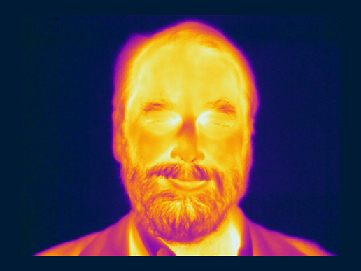 This infrared image of Ned Wright,