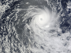 Cyclone Anja in the southern Indian Ocean on November 16 at 1 a.m. ET (0600 UTC).