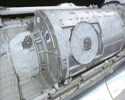 The Tranquility node in the payload bay of space shuttle Endeavour