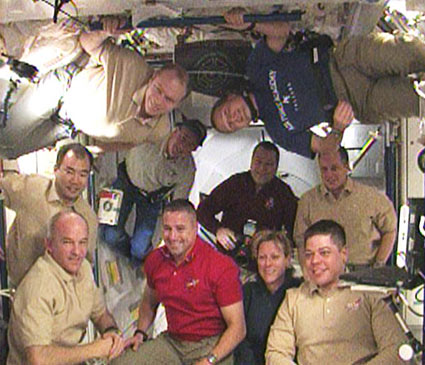 The STS-130 and Expedition 22 crew members