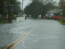 Flooding in Chincoteague, Virginia during the coastal low's severe rainfall.