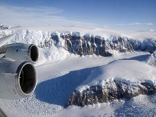 The flight on Nov. 16 took scientists through a tour of the Antarctic cryosphere, including this look at a steep valley on the Peninsula.
