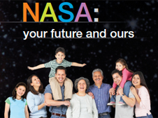Front of the poster NASA: Your Future and Ours
