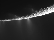 Unprocessed image from Cassini's Enceladus flyby