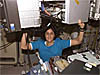 Astronaut holds 750-pound treadmill above her head