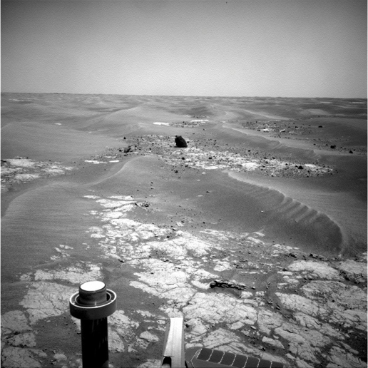 NASA's Mars Exploration Rover Opportunity took this picture of a rock informally named 'Marquette Island'.