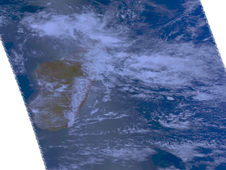 NASA's Aqua satellite captured this visible image of Bongani on Nov. 25.