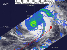 TRMM captured a satellite image of Super Typhoon Nida's rainfall on November 26.