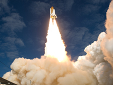 Atlantis launches on the STS-129 mission