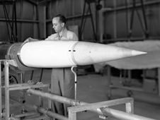 An Aerobee rocket assembly
