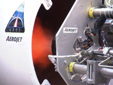 The Ares I first prototype thruster test was conducted at Aerojet.