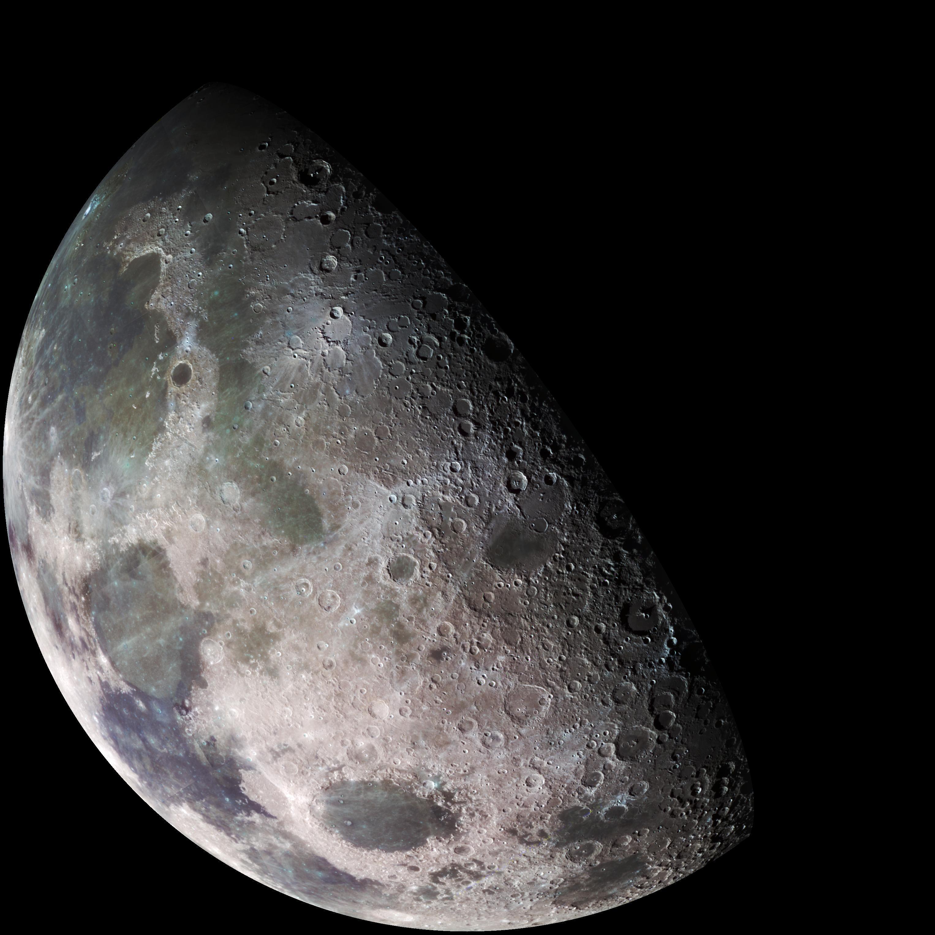 Impresionante foto de la NASA de la Luna en HD y a color
