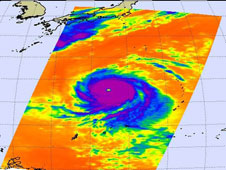 AIRS image of Typhoon Melor