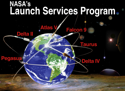NASA's Launch Services Program launch vehicles graphic