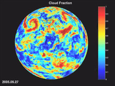 Cloud fraction animation of AIRS measurements