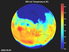 Temperature animation of AIRS measurements