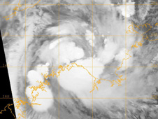 NASA's Terra satellite captured an infrared image of Tropical Storm Laurence on Dec. 14 at 1343 UTC.