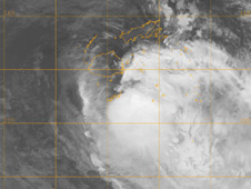 Aqua satellite captured an infrared image of Cyclone Mick on Dec. 14 at 1332 UTC.