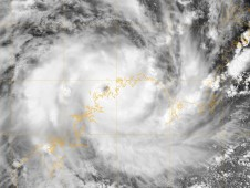 NASA's Aqua satellite captured an infrared image of Cyclone Laurence on Dec. 15 at 12:03 a.m. ET