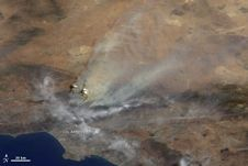 California's Station Fire from space
