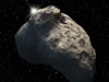 Artist's concept of the smallest Kuiper Belt object ever discovered.