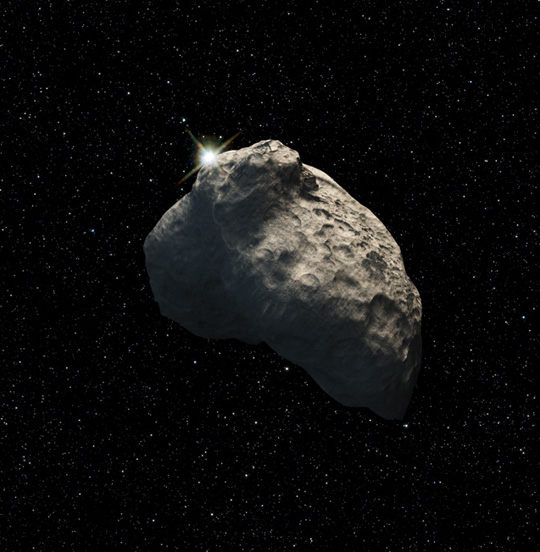 Artist's concept of the smallest object discovered in the Kuiper Belt.