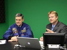 Kennedy Space Center Director Bob Cabana and Digital Learning Network Coordinator Damon Talley.